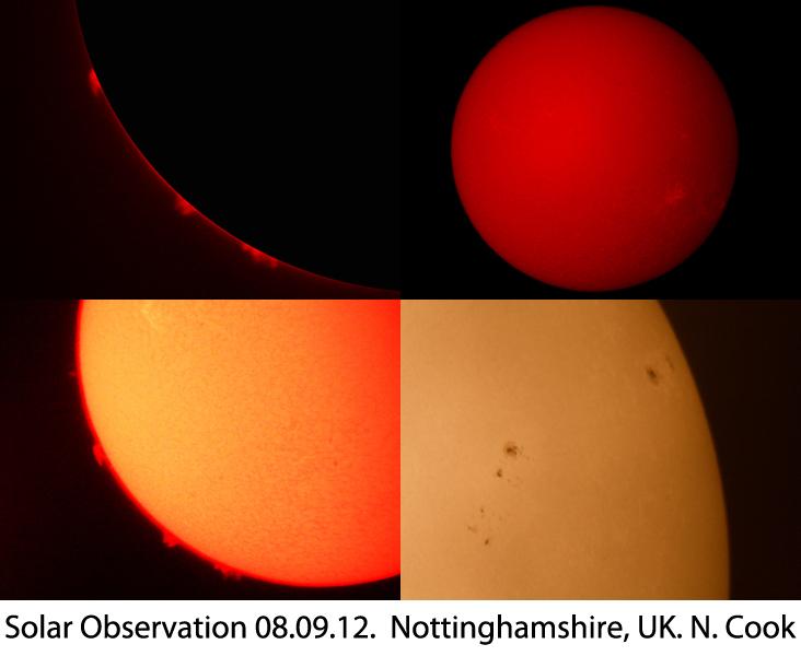 Solar summary 8th September 2012