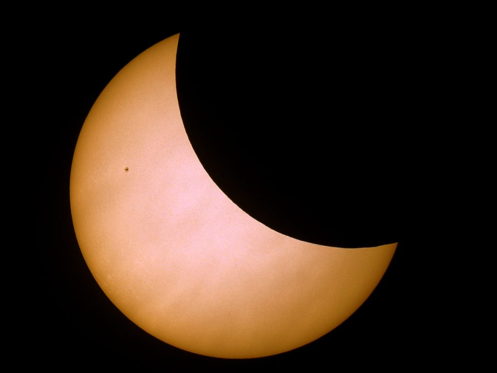 Partial Solar Eclipse 2015 as seen from Nottingham.