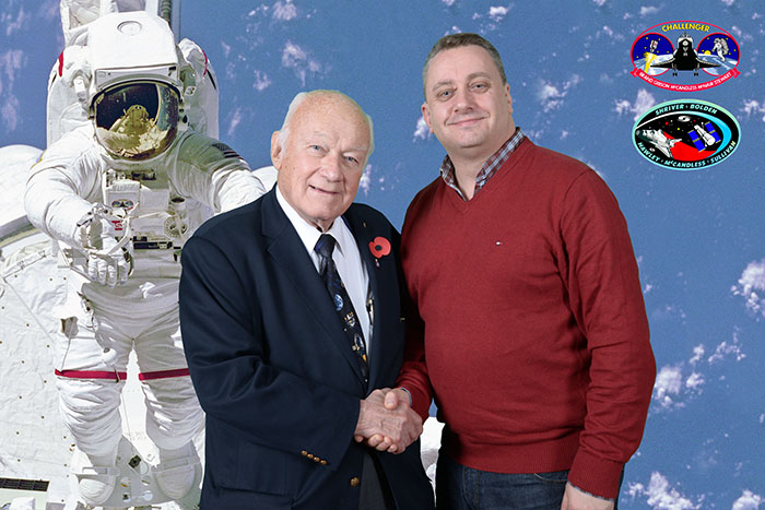 Bruce McCandless and Nick Cook